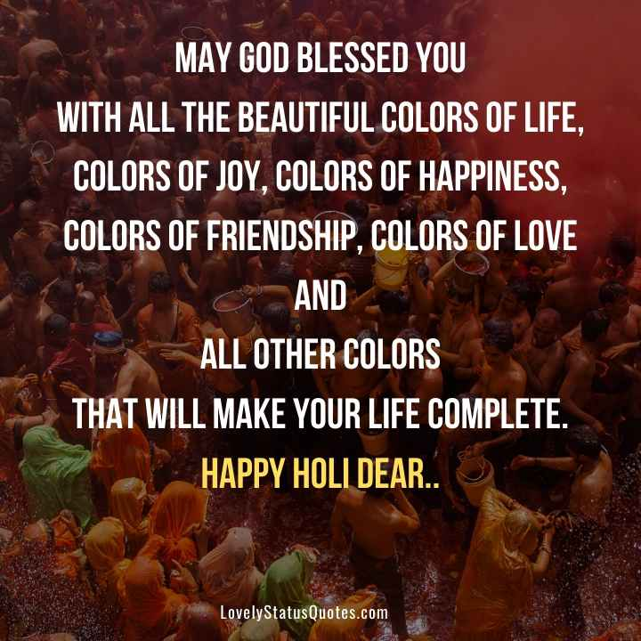 Happy Holi Status in english